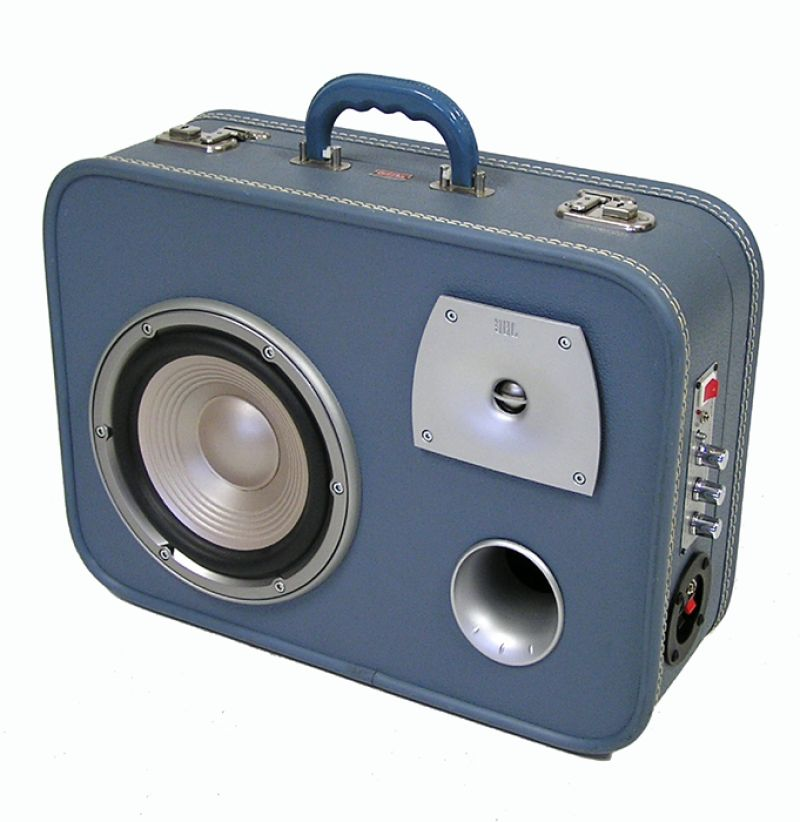 "Unique Portable Suitcase Stereo By ""Sounds Vintage"""