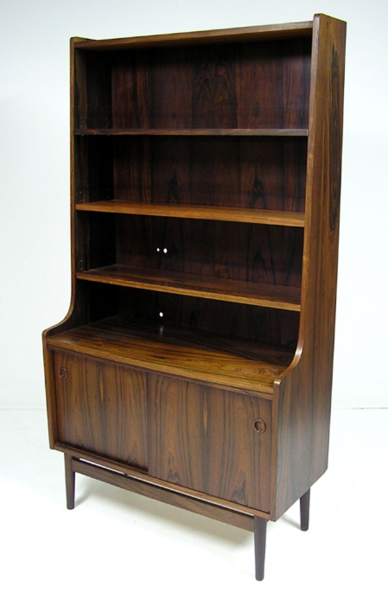 Danish Rosewood Bookshelf Cabinet