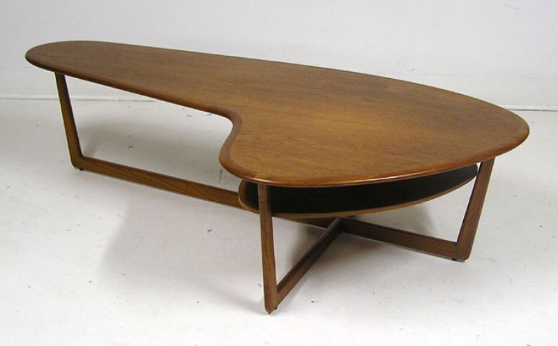 1960 70s teak boomerang coffee table hoopers modern
