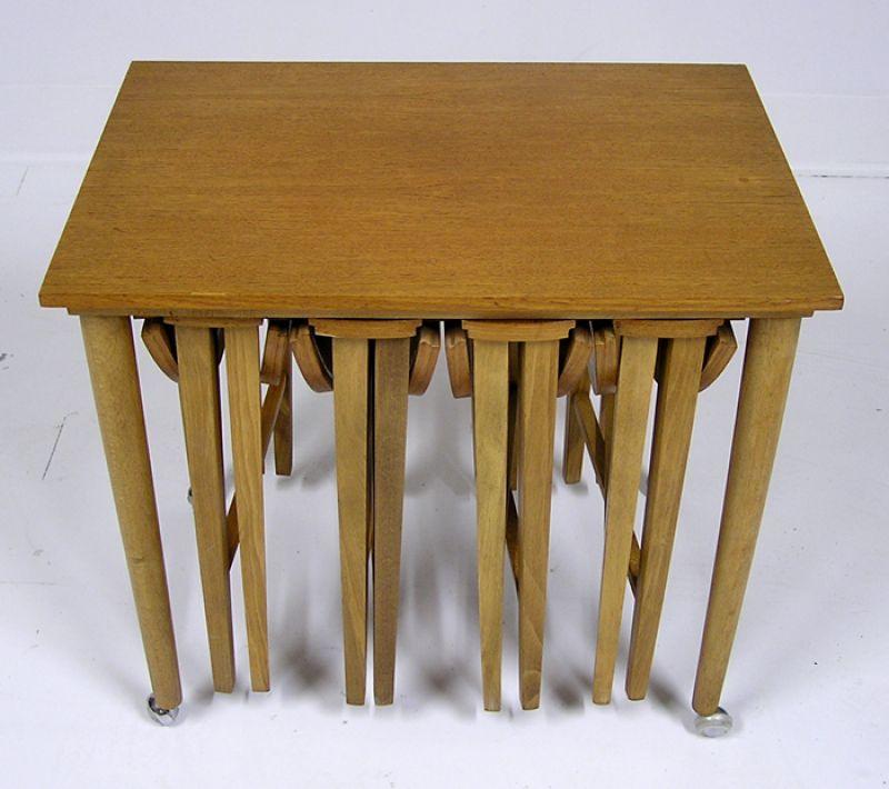 Teak Nesting Tables Amp Cart Hoopers Modern