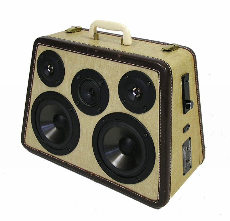"Custom Portable Sewing Machine Case Stereo By ""Sounds Vintage"""