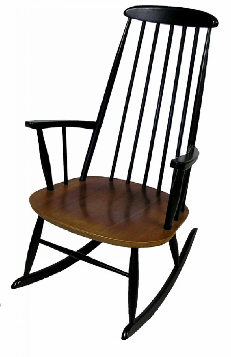 1960s ilmari tapiovaara rocking chair hoopers modern. Black Bedroom Furniture Sets. Home Design Ideas