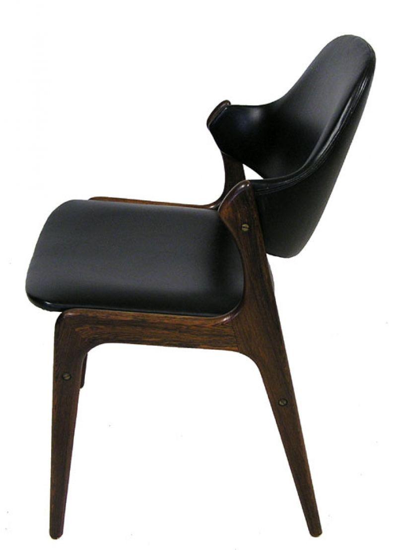 1950 60s Danish Rosewood Dining Chairs Arne Hovmand Olsen