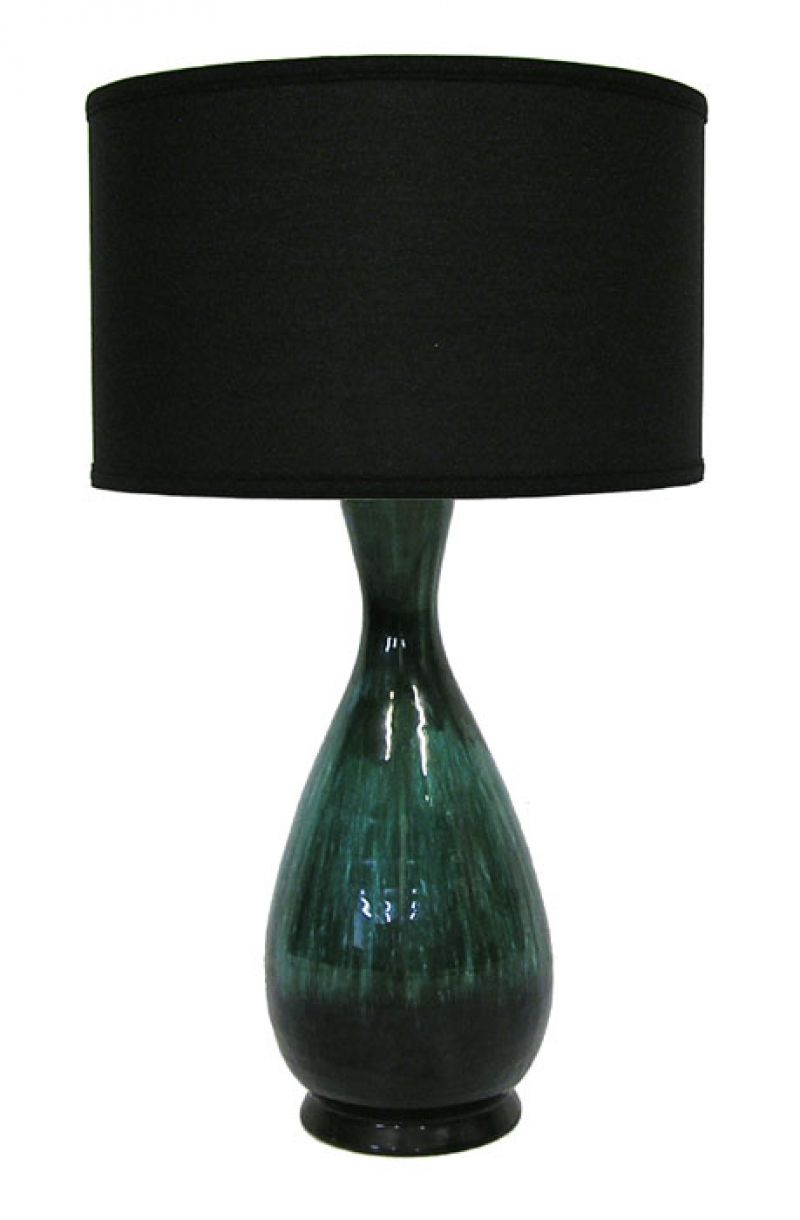 1960s Ceramic Pottery Lamp Hoopers Modern
