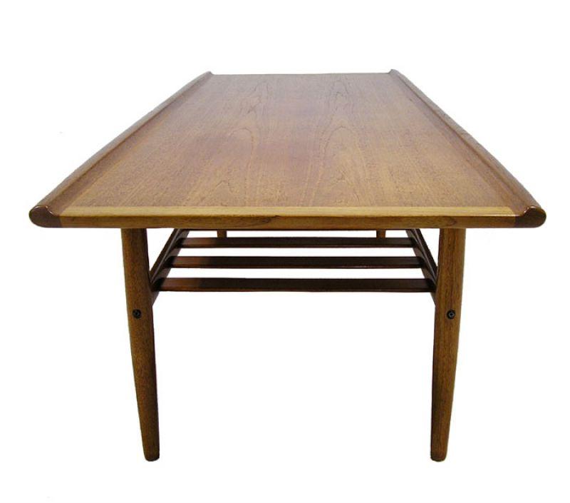 Teak Root Coffee Table Canada: 1960/70s Teak Coffee Table W/Lower Shelf