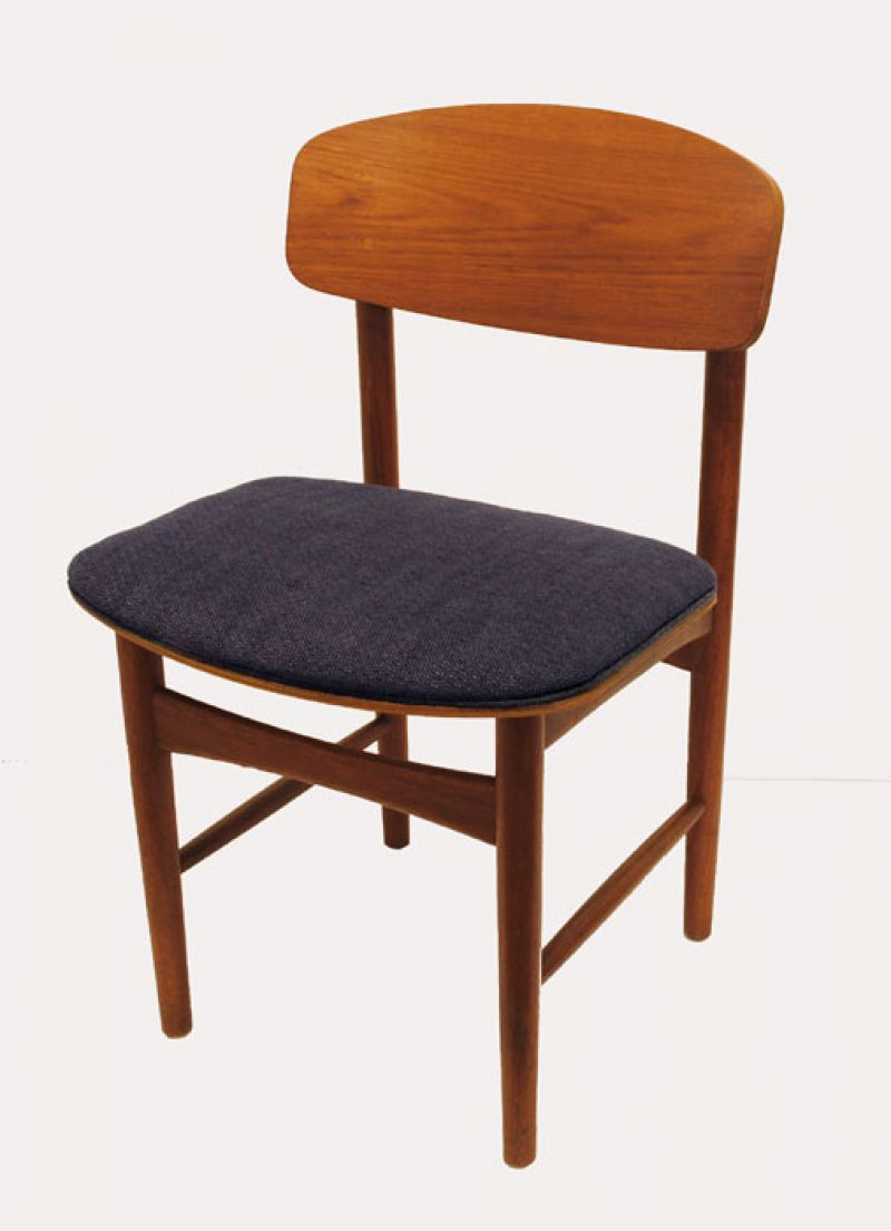 1950 60s danish teak dining chairs borge mogensen for Designer chairs from the 60s