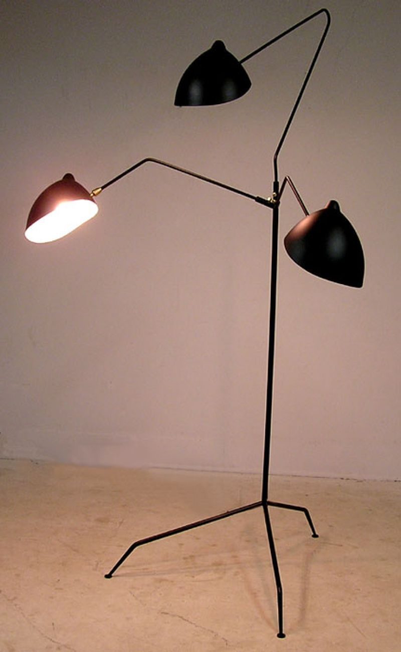 3 Branch Tripod Floor Lamp Serge Mouille Hoopers Modern