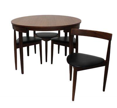 """1960s Hans Olsen """"Roundette"""" Dining Set * Denmark *"""
