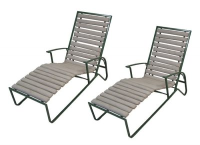 1970s Samsonite Tubular Steel Patio Lounge Chairs *2 Available*