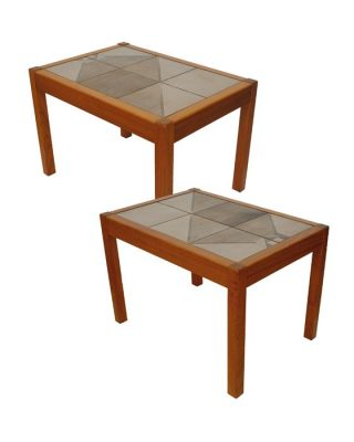 1970s Tiled Danish Teak End Tables *2 Available*