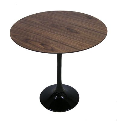 Barbell Side Table w/Walnut Veneer Top