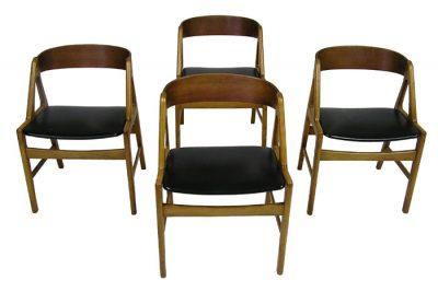 1950/60s Teak & Beech Dining Chairs *Denmark*