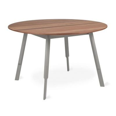 Bracket Walnut Dining Table by Gus* Modern * Round *