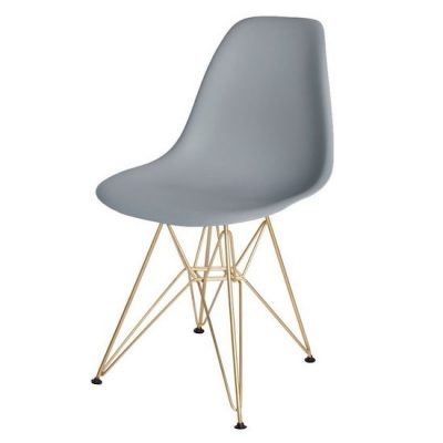 Molded Eames Style Side Chairs w/Wire Base