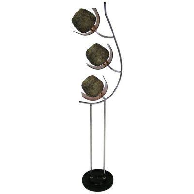 1960s Mid-Century Modern Chrome & Lucite Floor Lamp