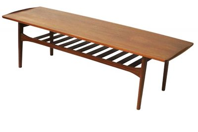 1960s Teak Coffee Table w/Lower Shelf