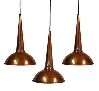 1950s Fog & Morup Copper Pendant Lights *Set of 3*