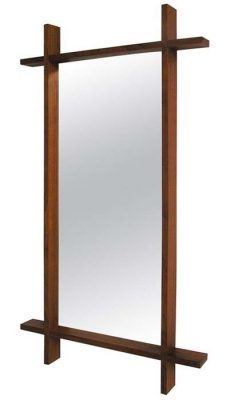 1960s Large Solid Teak Wall Mirror, Denmark
