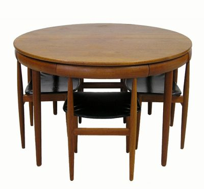 1960s Danish Teak Table & Chairs *Hans Olsen*