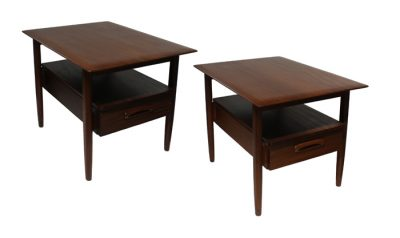 1960s Afromosia Teak Side Tables * Jan Kuypers *