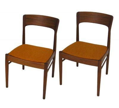 1960s Danish Teak Dining/Side Chairs *K.S. Mobler*