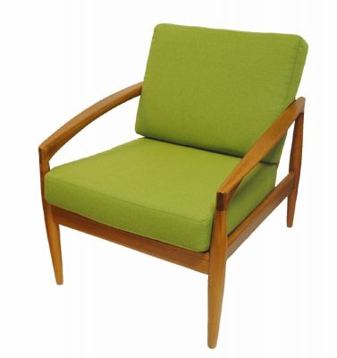 "1960s Teak ""Paper-Knife"" Lounge Chair by Kai Kristiansen"
