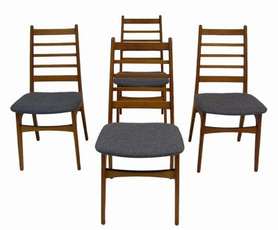1970s Danish Teak Ladder Back Dining Chairs *Set of 4*