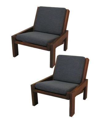 1960s Low Armless Easy Chair *2 Available*
