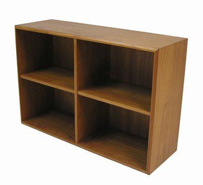 1960/70s Low Teak Bookshelf
