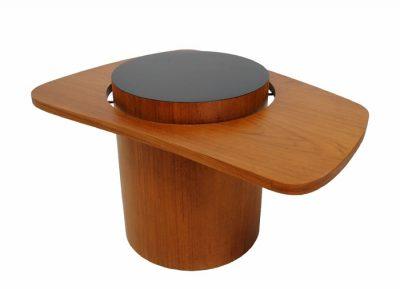 "1960s Teak Biomorphic ""Martini"" Side Table"