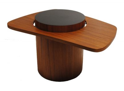 "1960s Teak Biomorphic ""Martini"" Side Table"