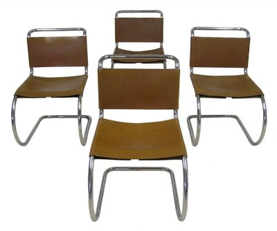 1970s Mies Van Der Rohe Side Chairs *Set Of 4*