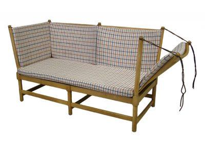 1960s Beech Spoke-Back Daybed Sofa *Borge Mogensen*