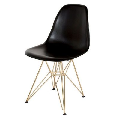 Molded Eames Style Side Chair w/Wire Base