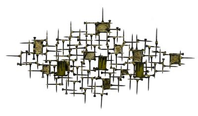 1970s Brutalist Style Abstract Wall Art