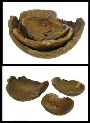 Teak Root Fruit Bowls *Set of 3*