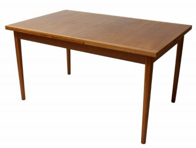 1960/70s Teak Draw-Leaf Dining Table *Nils Jonsson*