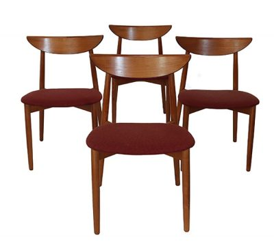 1960s Danish Teak Dining Chairs * Harry Ostergaard *