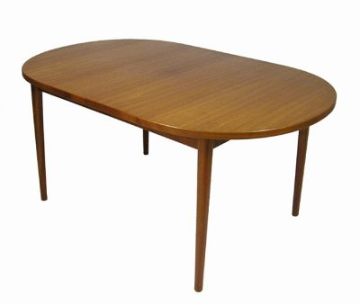 1960s Oval Teak Dining Table w/2 Ext. *Nils Jonsson*