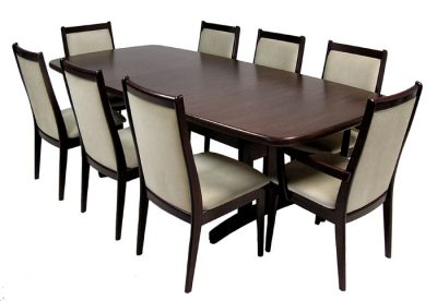 Large Rosewood & Mahogany Dining Suite *Table & 8 Chairs*