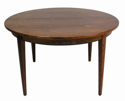 1960s Round Rosewood Dining Table w/Extension *Gunni Omann*