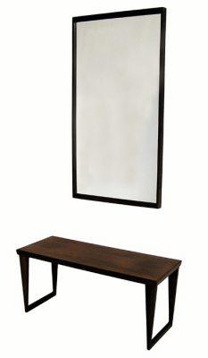 1960s Rosewood Bench & Mirror by Kai Kristiansen