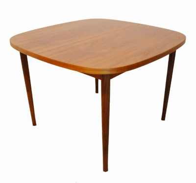 1960s Small Teak Dining Table w/Extension