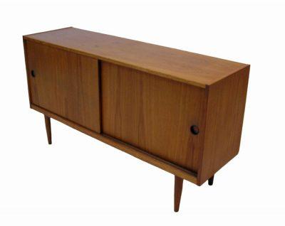 1960s Low Compact Teak Sideboard