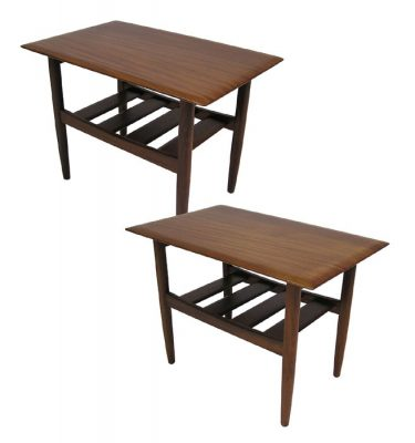 1960s Solid Teak Side Tables by Jan Kuypers *Pair*