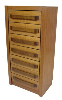 1970s Tall Teak Chest of Drawers
