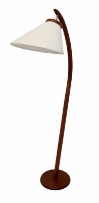 1960s Teak Arc Lamp