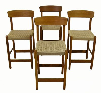 Teak Counter/Bar Stools *Set Of 4*
