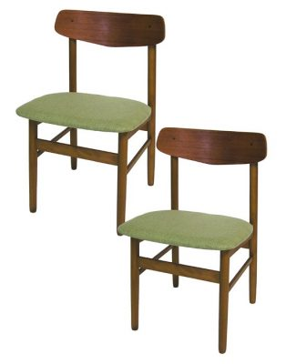 1960s Danish Teak & Beech Dining Chair * 2 Available *