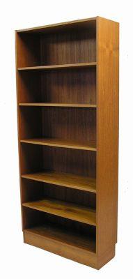 1970s Tall Teak Bookshelf